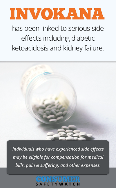 Invokana has been linked to serious side effects including diabetic ketoacidosis and kidney failure. // Consumer Safety Watch