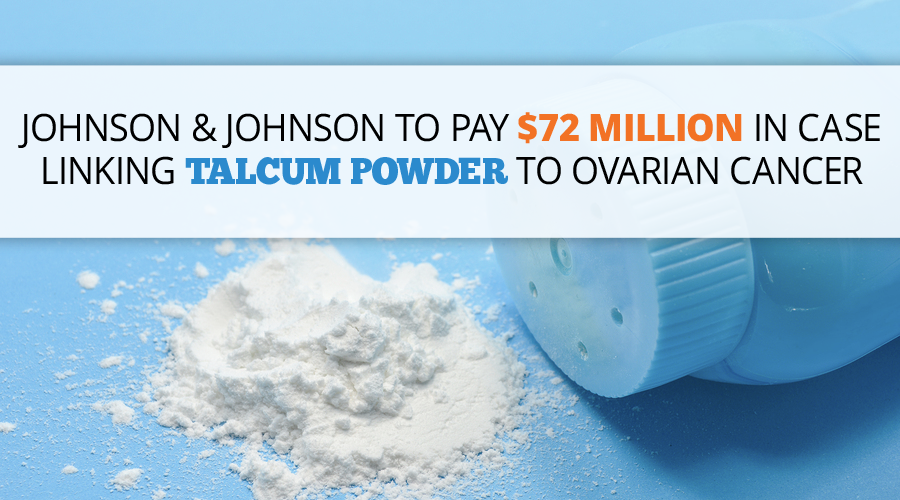 Johnson & Johnson to pay $72 million in Case Linking Talcum Powder to Ovarian Cancer // Consumer Safety Watch